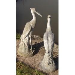 Pair Vintage Stone Herons