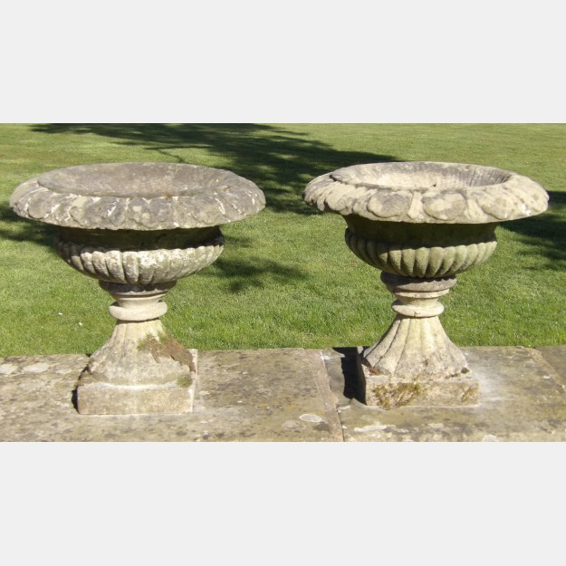 Antique Stone Urns (Pair)