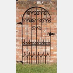 A Wrought Iron Garden Gate
