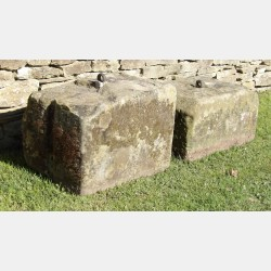Two Old Cheese Press Stones