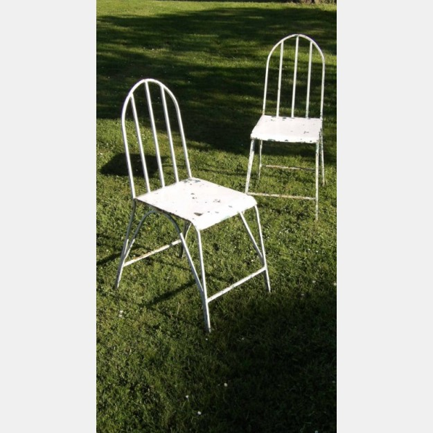 Pair of Vintage Garden Chairs