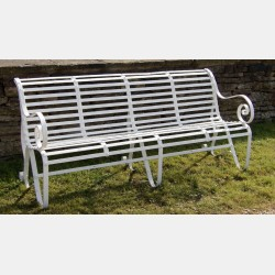 Antique Wrought-Iron Garden Bench