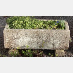 Old Rectangular Stone Trough