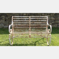 Vintage Wrought-Iron Bench