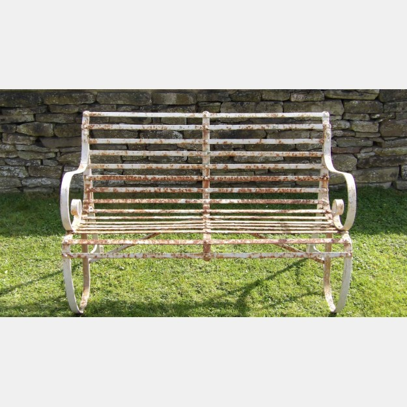 Vintage Wrought-Iron Bench