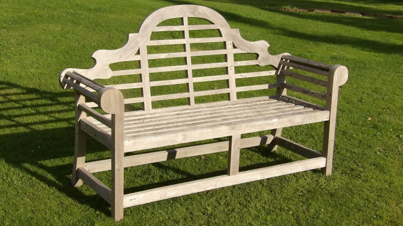 Weathered Lutyens Style Bench Holloways Garden Antiques
