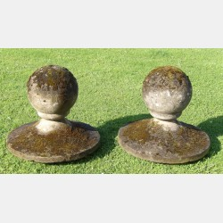 Pair Of Old Finials