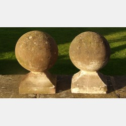Pair Sandstone Finials