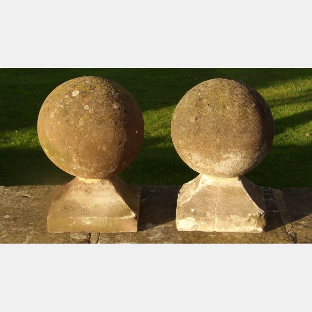 Pair of sandstone finials