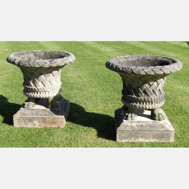 Pair of large garden planters