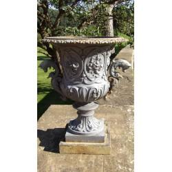 Antique Cast-Iron Urn