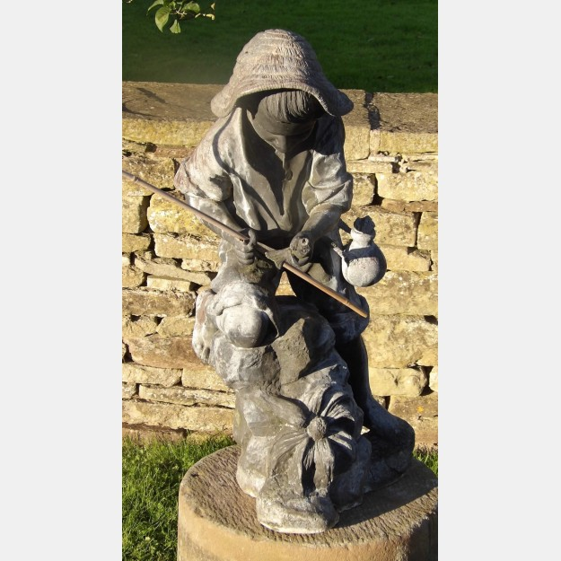 Antique lead garden figure