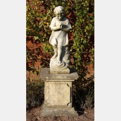 Antique Marble Garden Statue