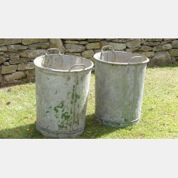 A Pair of Vintage Garden Planters