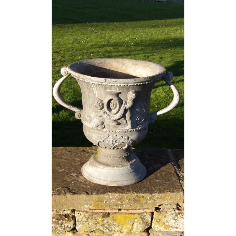 A Vintage Lead Garden Urn