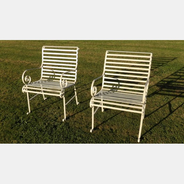 A Pair of Vintage Garden Chairs