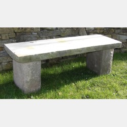 Old Stone Garden Seat