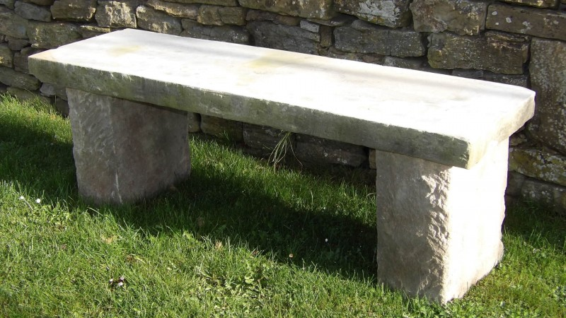 Old Stone Garden Seat Holloways Garden Antiques And