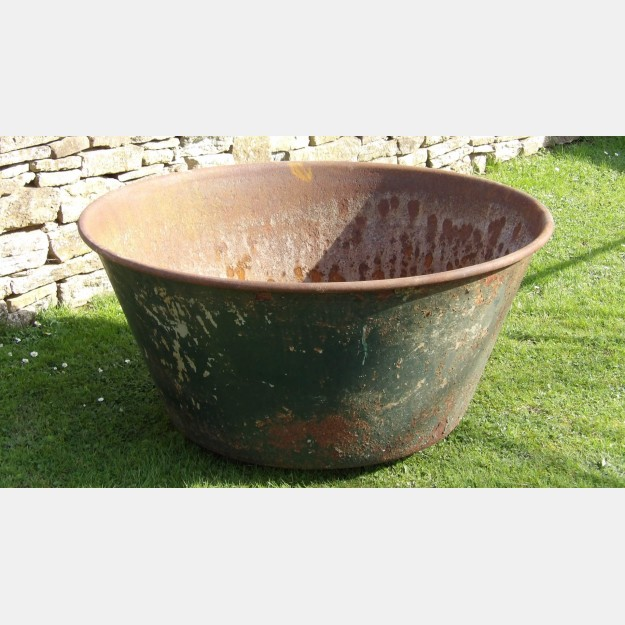 An Old Cast Iron Bowl