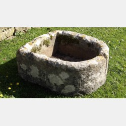 An Old Limestone Pump Trough