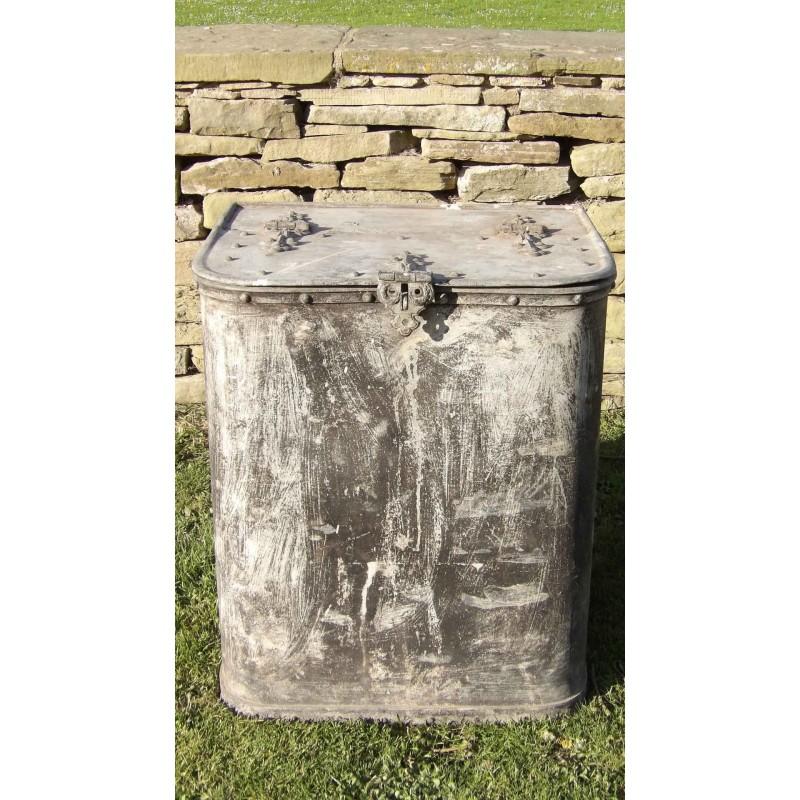 Vintage Galvanised Bin