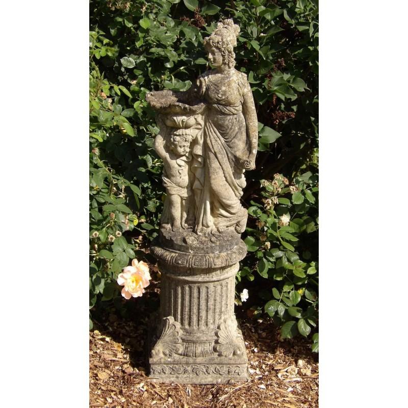 Weathered Garden Statue