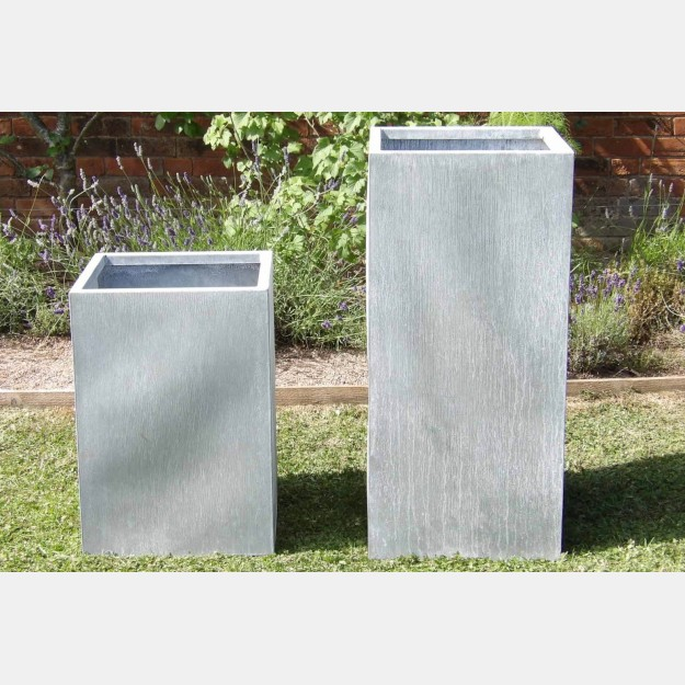 Contemporary Galvanised Planters