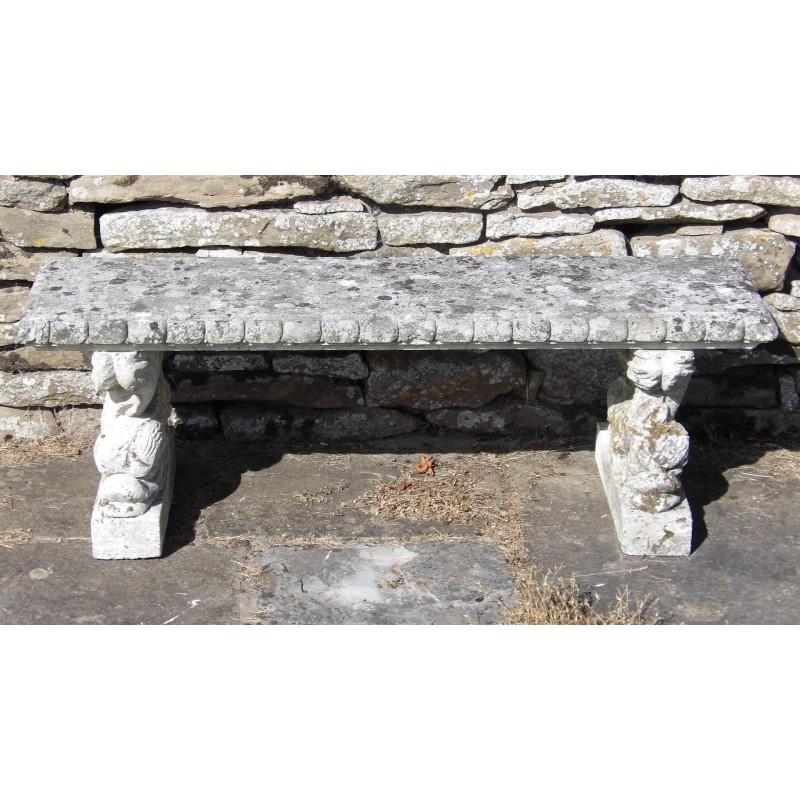 Vintage Stone Garden Seat
