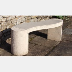 Modern Curved Stone Bench