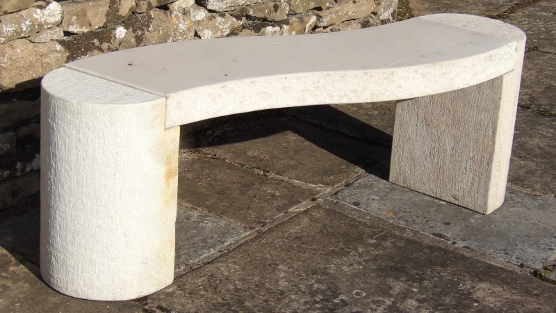 Modern Curved Stone Bench Holloways Garden Ornaments