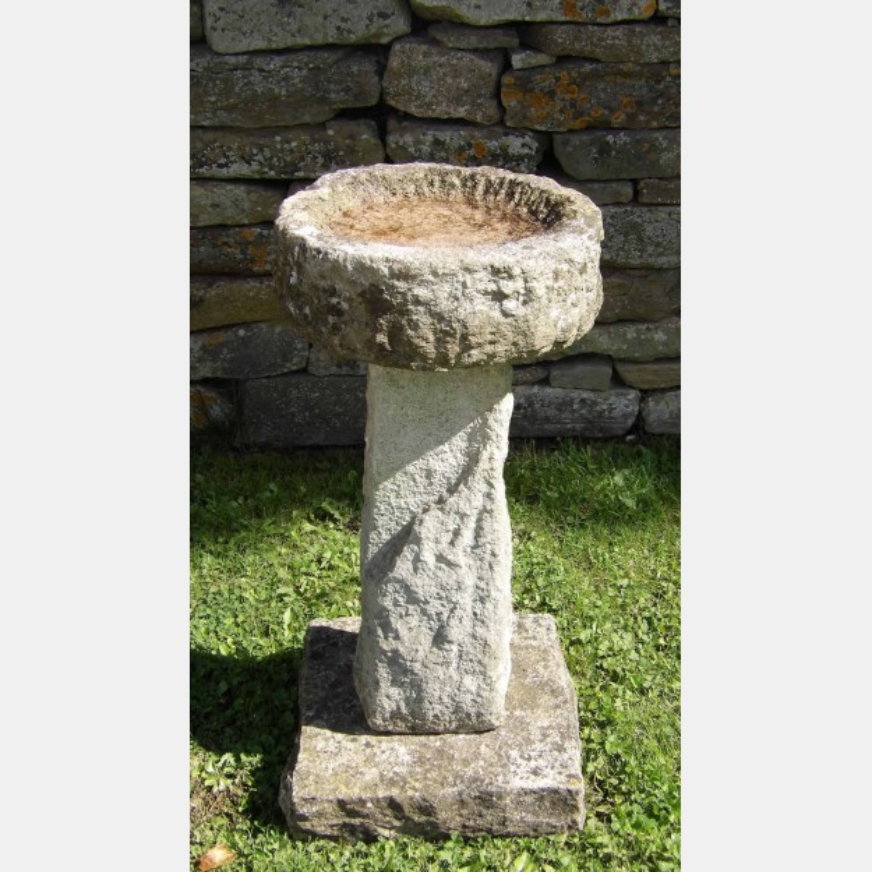 Vintage Stone Bird Bath