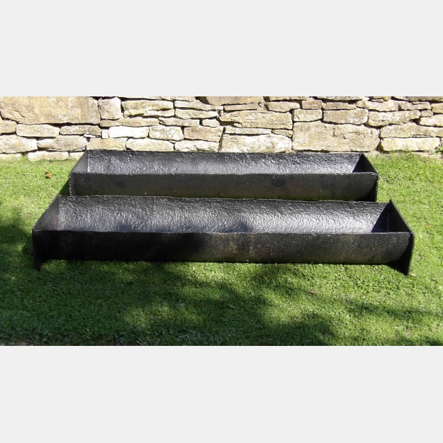 Pair of Large Iron Troughs