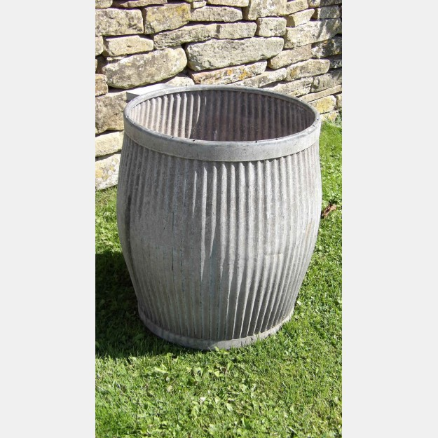 Vintage Galvanised Iron Planter