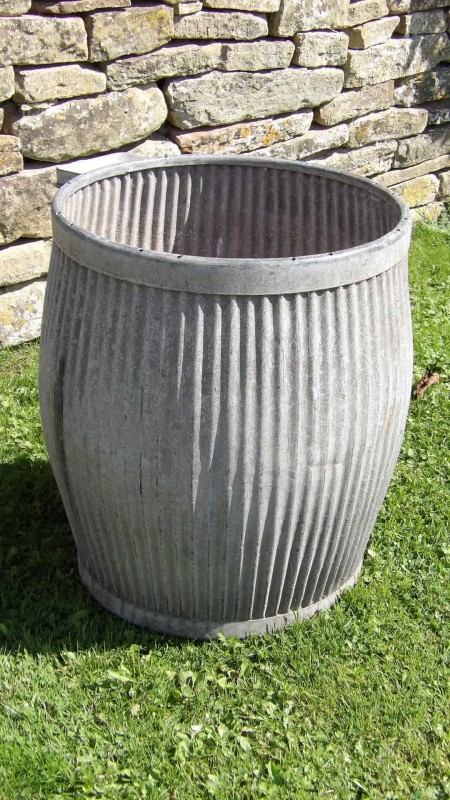 vintage galvanised planter iron planter holloways