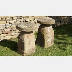 Two Old Staddle Stones