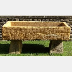 Large Antique Limestone Trough