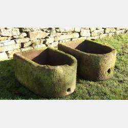 Pair of Stone Troughs