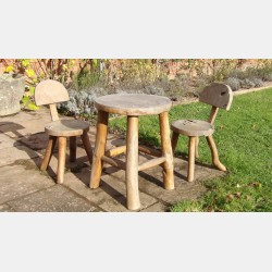 Rustic Teak Table and Chairs