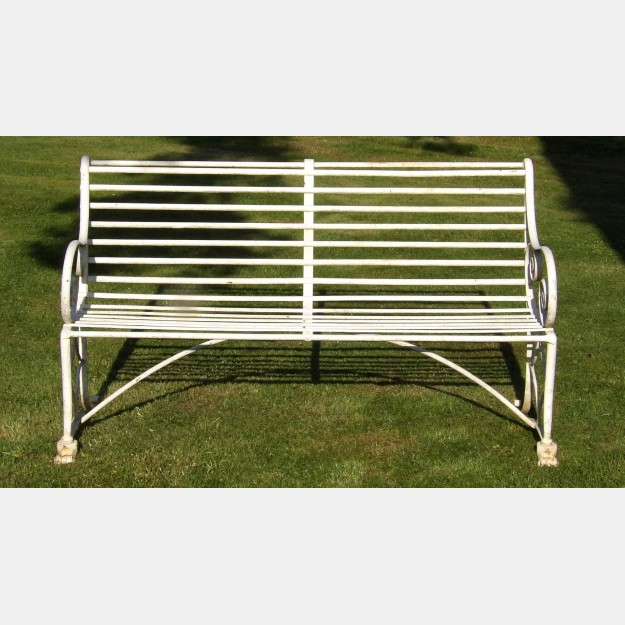 Antique wrought-Iron bench