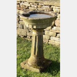 Antique Garden Birdbath