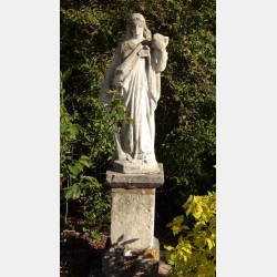 Antique Stone Garden Statue