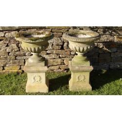 Weathered Haddonstone Urns