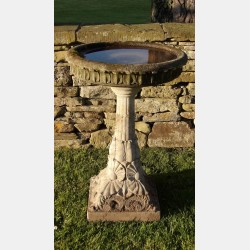 Large Weathered Birdbath