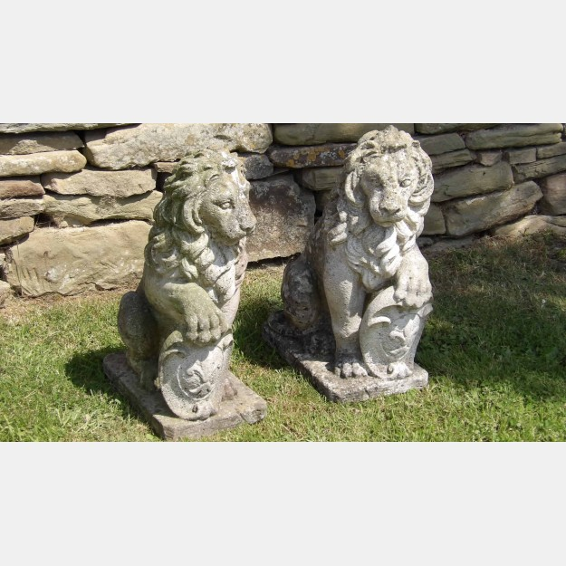 Pair of Garden Lions
