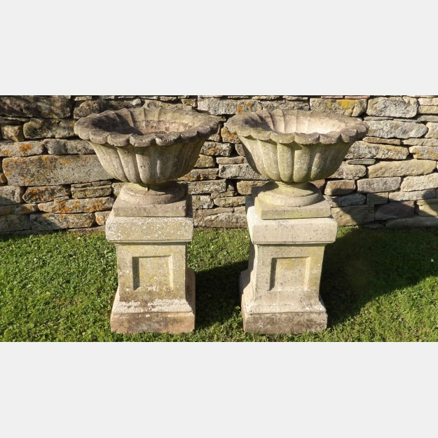 A Pair of Vintage Garden Urns