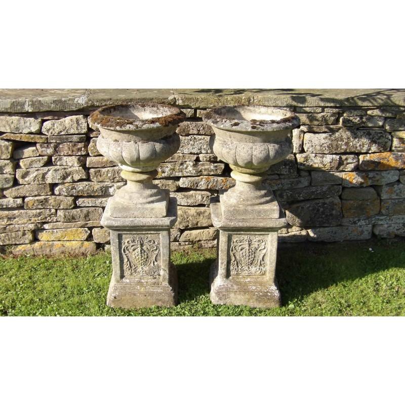 Weathered Garden Urns