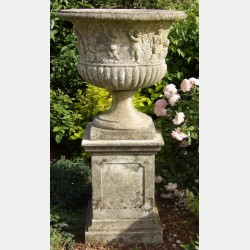 Large Weathered Garden Urn