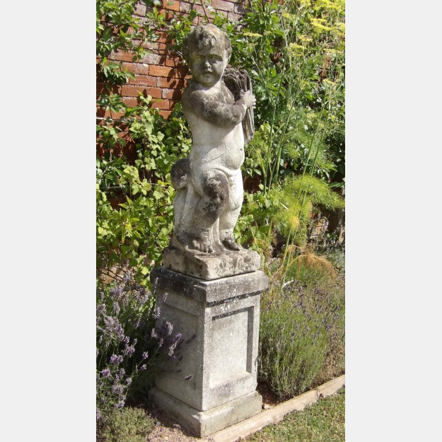 Antique Garden Statue of a Putto