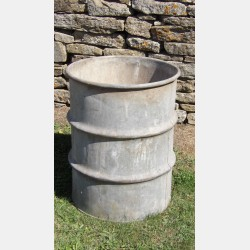 Salvaged Galvanised Barrel