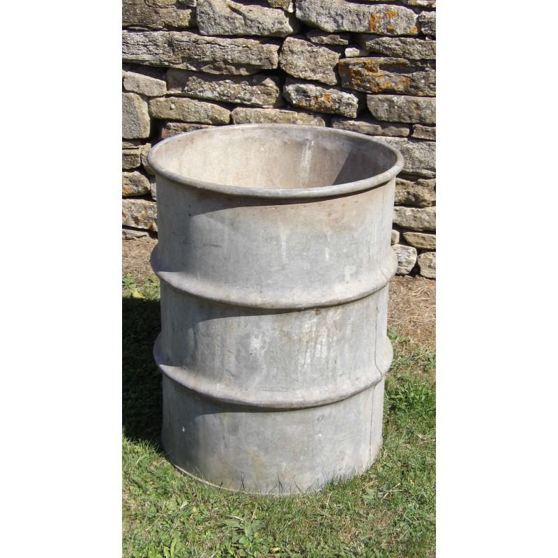Salvaged Galvanised Barrel